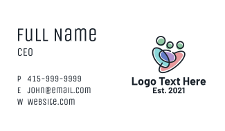 Multicolor Family Care Business Card