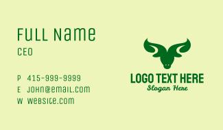 Organic Leaf Bull  Business Card