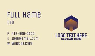 Abstract Business Hexagon Business Card