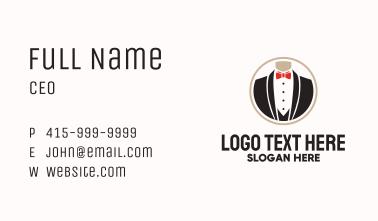 Gentleman Formal Wear Mirror Business Card
