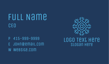 Flower Snowflake Business Card
