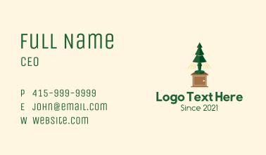 Christmas Lamp Business Card