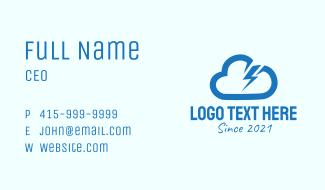 Blue Thunder Storm Business Card