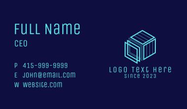 Blue Cubic Construction  Business Card