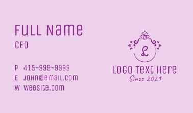 Victorian Ornament Lettermark Business Card