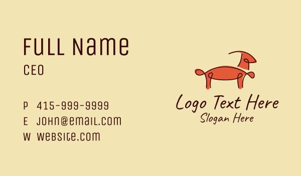 gazelle - Minimalist Gazelle Outline  Business card horizontal design