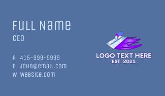 Concrete Trowel Tool Business Card