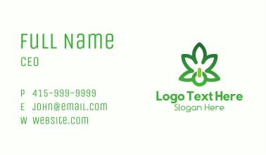 Cannabis Power Button Business Card