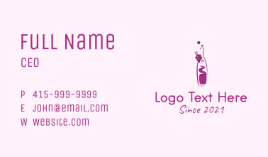 Grapes Wine Bottle  Business Card