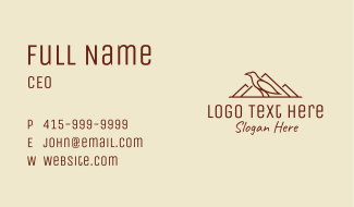 Nature Mountain Crow  Business Card