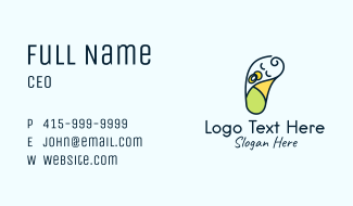 Sleeping Baby Swaddle Business Card
