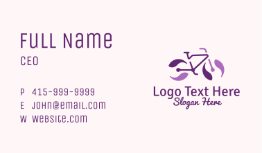 Purple Bicycle Marble Business Card