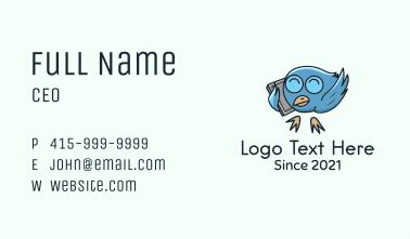 Blue Bird Call Mascot Business Card