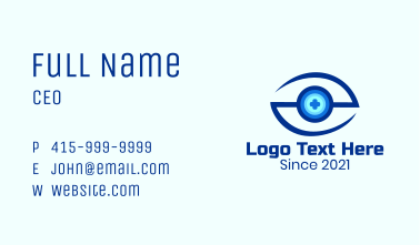 Letter S Eye Clinic Business Card