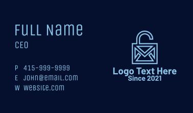 Geometric Email Lock  Business Card