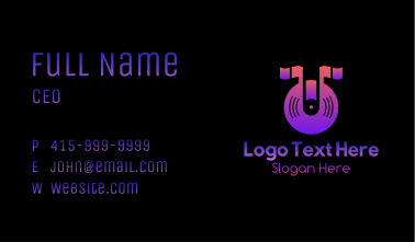 Music Note Disc Business Card