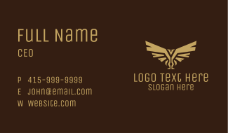 Native Wings Symbol Business Card