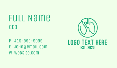 Green Herbal Lung Medicine Business Card