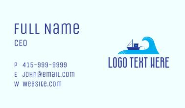 Ocean Fishing Vessel Business Card
