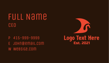 Red Viking Dragon Business Card