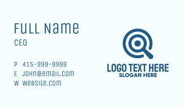 Blue Target Search Business Card
