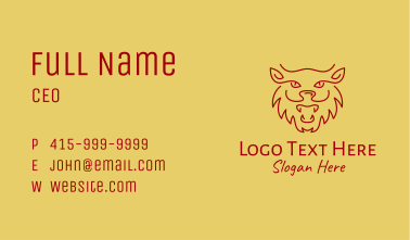 Chinese Zodiac Tiger  Business Card