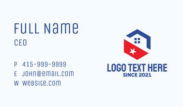 Hexagon Patriot Home  Business Card