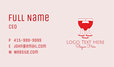 Red Wine Cocktail  Business Card