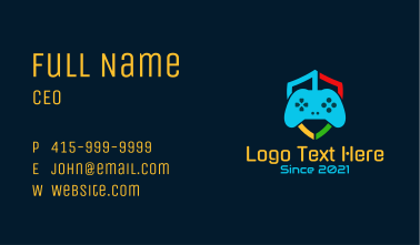 Shield Game Controller Business Card