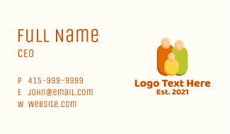 Rounded Community Resident  Business Card