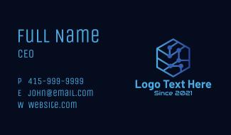 Hexagon Tech Circuit Business Card