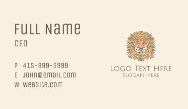 Old Lion Art Business Card