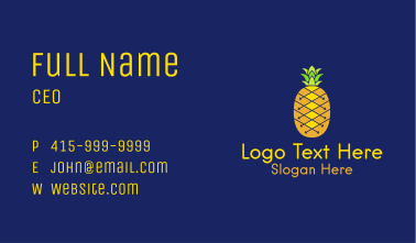 Tropical Pineapple  Business Card