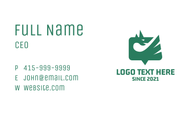 Dragon Chat App Business Card