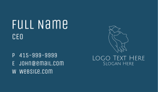 Girl Animal Conservation Business Card