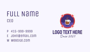 Coffee Bar Badge  Business Card