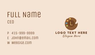 Coconut Paint Palette Business Card