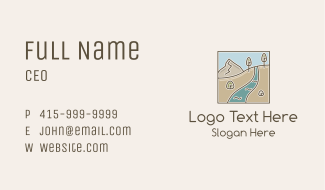 River Riverbank  Business Card