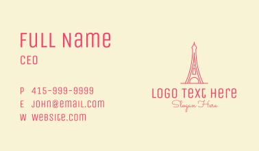 Pink Eiffel Tower  Business Card