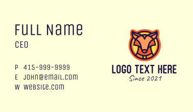 Wild Fox Animal Business Card