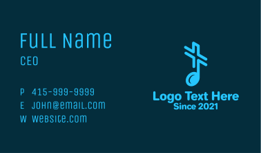 Music Note Cross Business Card
