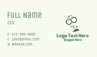 Green Recycle Chef Business Card