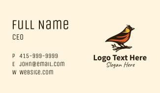 Tree Robin Bird Business Card