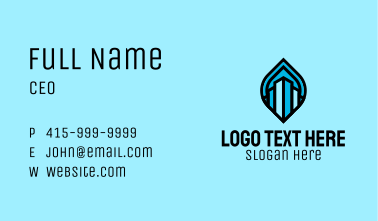 Blue Realty Company  Business Card