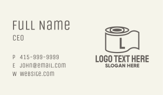 Tissue Roll Letter Business Card