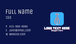 Glitchy Guitar App  Business Card