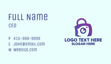 Purple Camera Bag Business Card