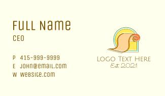 Minimalist Carpet Rug Business Card
