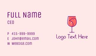 Bird Wine Tasting  Business Card
