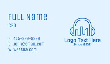 City Building Headphones Business Card
